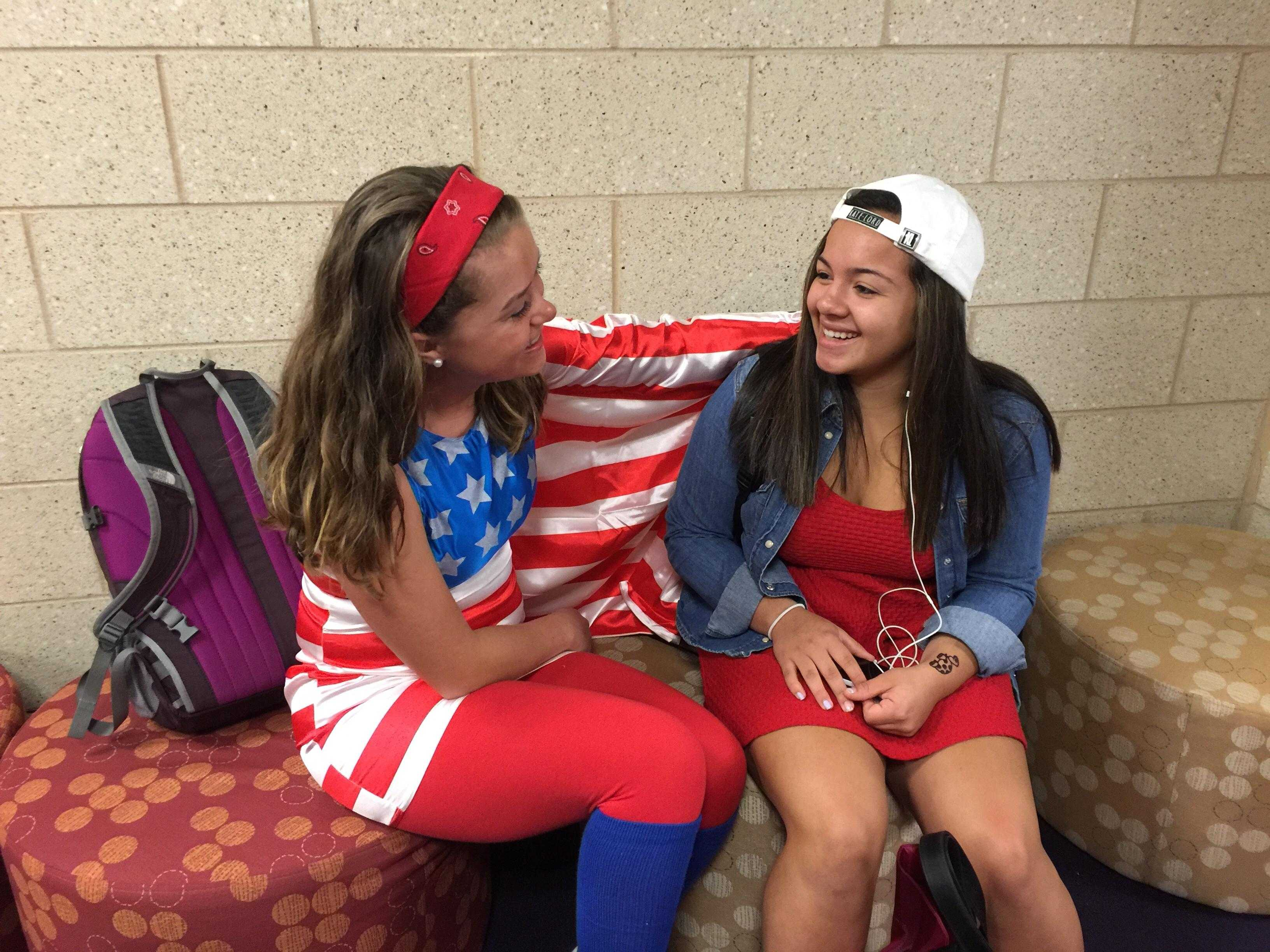 Senior Hannah Sugrue shows her Fourth of July spirit during last year's HoliDay.