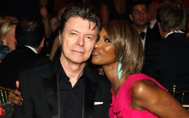 David Bowie with his wife, supermodel Iman.