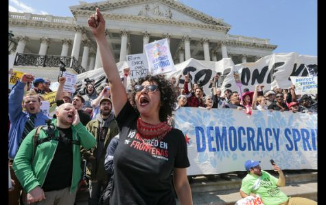 Volatile Political Process Produces Protest Group Democracy Spring