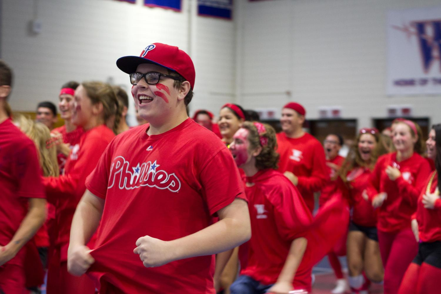 Senior Bruce Taggart during last year's Color Wars.