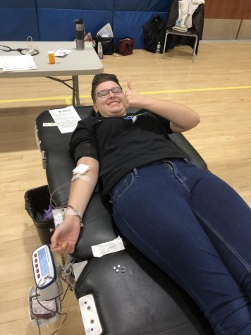 Giving Blood at Waterford High