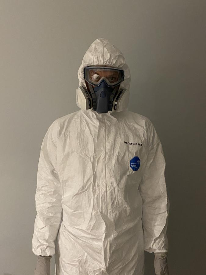 Dr. Christian LoCascio in protective gear.